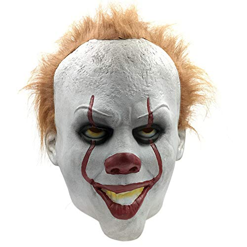 Stephen King's It Pennywise Mask, Latex Halloween Scary Mask, Cosplay Clown Party Mask Prop