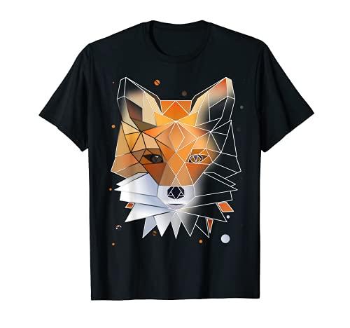 Fuchs Polygon Geometrisch Wild-Tier T-Shirt