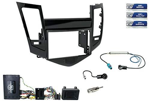 Radio-Einbauset inkl. Infotainment-Adapter geeignet für Chevrolet Cruze Bj. 2009-2015 *Klavierlack* Doppel-DIN