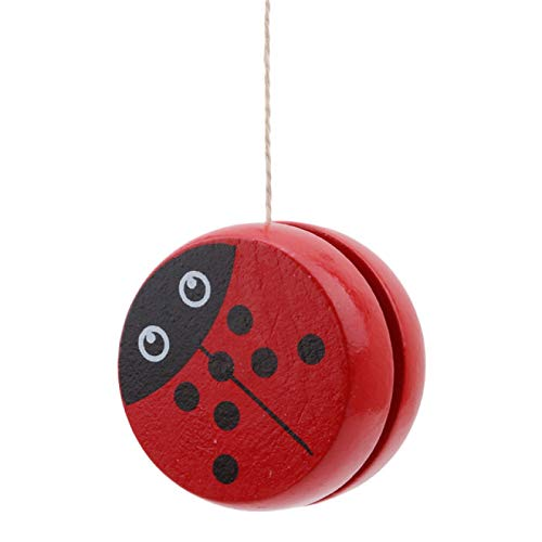 LITONGFU Yo-Yos Prints Wooden Yoyo Toys Ladybug Toys Kids Yo Yo Creative Yo Yo Toys For Children 5Cm Wooden Yo Yo Ball