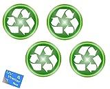 Generisch - Juego de pegatinas adhesivas reutilizables (R4/1) (1 juego: 4 unidades de 10 cm de diámetro)