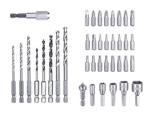 kwb by Einhell Bit-Bohrerbox 39-tlg. L-Box Werkzeug-Zubehör (39 teiliger Bit und Bohrersatz, passend für alle Bohrschrauber mit einer 1/4