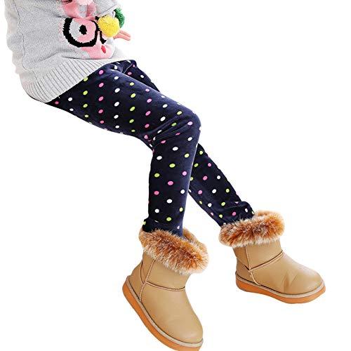 Niña Lindo Impresión Leggings Elástico Espesar Cálido Pantalones Largos Jeggings Leggins Deportivas
