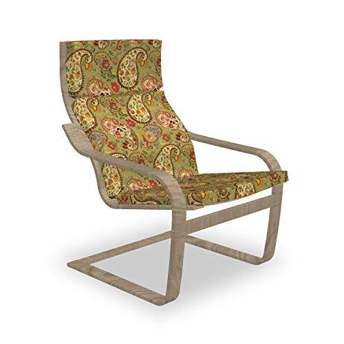 ABAKUHAUS Paisley Poäng Sessel Polster, Bunter persischer Stil, Sitzkissen mit Stuhlkissen mit Hakenschlaufe und Reißverschluss, Mehrfarbig