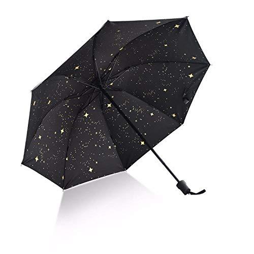 xmwm Paraguas plegable grande de vinilo para hombres y mujeres, paraguas anti rayos UV, paraguas de sol, paraguas negro, paraguas para niños, paraguas para niña, manual, tamaño único