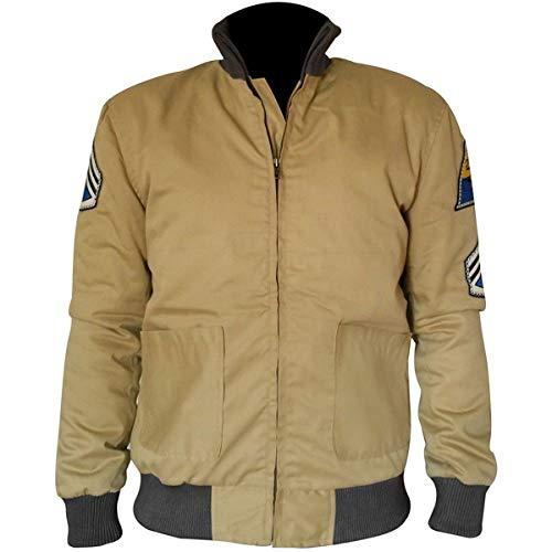 STB-Fashions Herren Brad Pitt Fury Don Collier Wardaddy WW2 Military Tanker Baumwolljacke Gr. XL, Khaki / Baumwolle