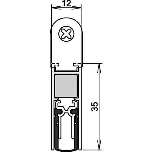 Athmer Türdichtungen Doppeldicht M-12/35   Länge (mm): 833