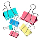 color binder clips - Binder Clips, 100PCS Binder Clips Assorted Sizes [2021 Upgrade] Large, Medium, Mini Binder Clips Combination, can use for Office, Home, School