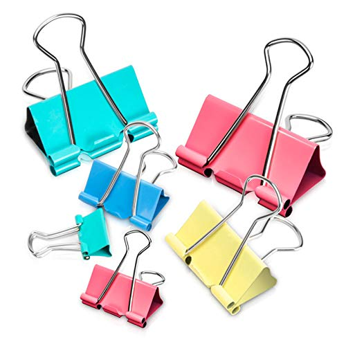 Binder Clips 100 Count Assortment No Micro Sizes