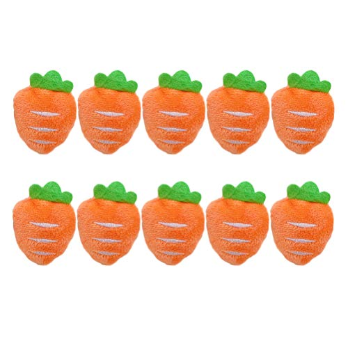 VALICLUD 10Pcs Adorable Plush Carrot Shaped Brooch Hair Band Bag Shoes Brooch Pin Decor for Women (Carrot Brooch)