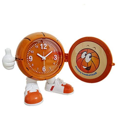 Warm Heart Réveil De Basket-Ball De Personnalité Mode Créatif, Réveil Mignon De Bureau D'Étude De Chevet, Horloge pour Enfants, Cadeau d'anniversaire, Décoration Créative