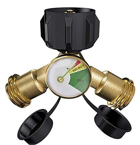 Adaptador de propano Manómetro de presión de gas Manómetro de gas Propano Regulador de butano Adaptador de tanque de gas propano para parrilla de gas Calentador de estufa de camping