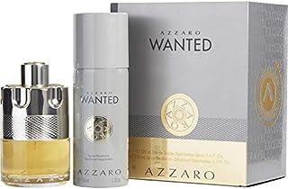 AZZARO Wanted Gift Set Eau De Parfum & Deodarant Spray For Men, 3.4 oz + 5.1 oz
