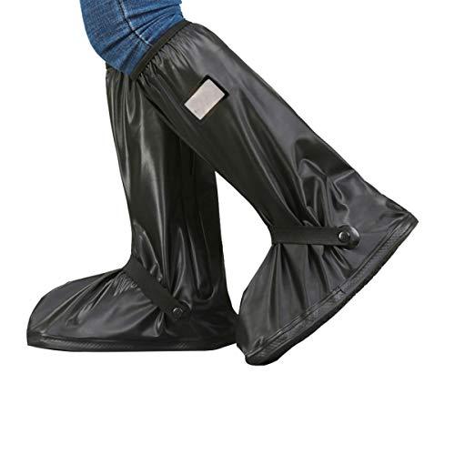 Osuter Regenüberschuhe Fahrrad Wasserdicht Regen Überschuhe Rutschfeste Regenschutz Schuhe Abdeckung für Herren Damen(L-Black)