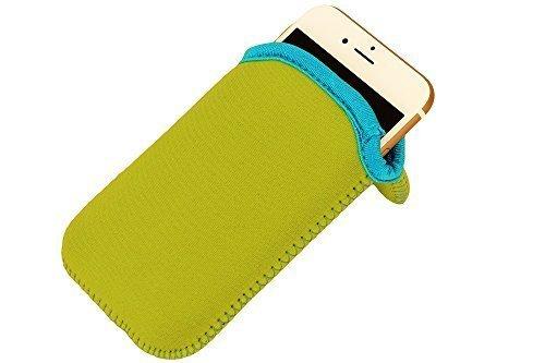 immi Smartphone Neopren Sleeve f. iPhone 6/7/8 u. gleichgroß (Grün/Pink)