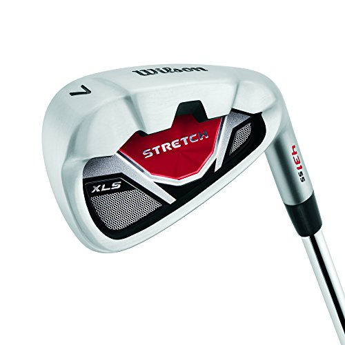 Wilson Beginner Complete Set, 10 golf clubs with stand bag, Men's (left hand), Stretch XL, Black/Grey/Red, WGG157550