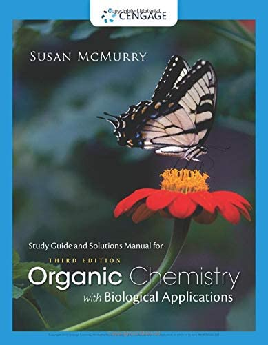 Study Guide with Solutions Manual for McMurry s Organic Chemistry With Biological Applications product image