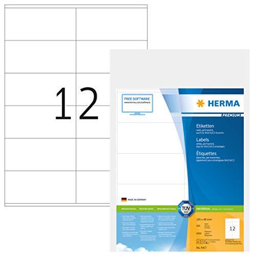 Herma 2244178 - Etiquetas para impresoras (105 x 48 mm), blanco