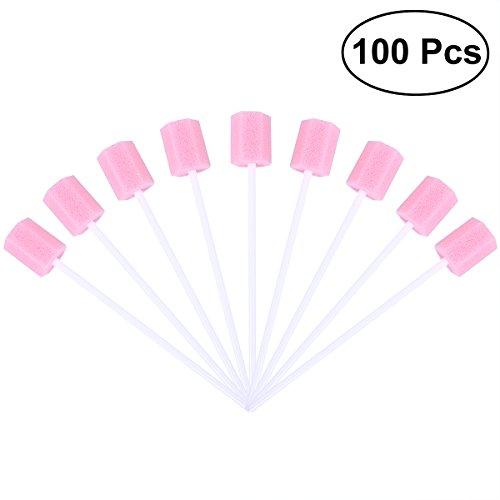 ULTNICE - Lot de 100 tampons oraux jetables pour le soin de la bouche et des dents