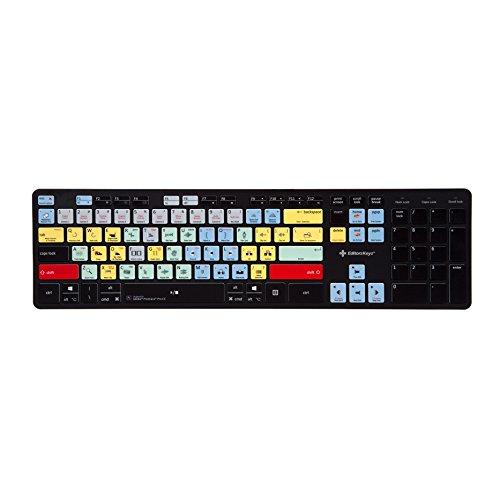 Wireless Adobe Premiere Pro CC Keyboard | Edit 50% Faster in Premiere - Fully Wireless Keyboard for PC