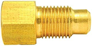 Brass Adapter, Female(3/8-24 Inverted), Male(M10x1.0 Bubble), 10/bag