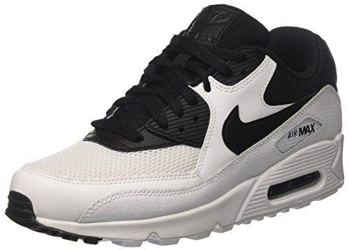 Nike Air Max 90 Essential, Zapatillas Hombre, Blanco (White/Black/Black/White), 42 EU