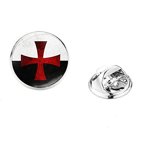 Cruz Roja lapel pin acero inoxidable masonic masónico hombres camisa traje broches pins insignias recuerdo