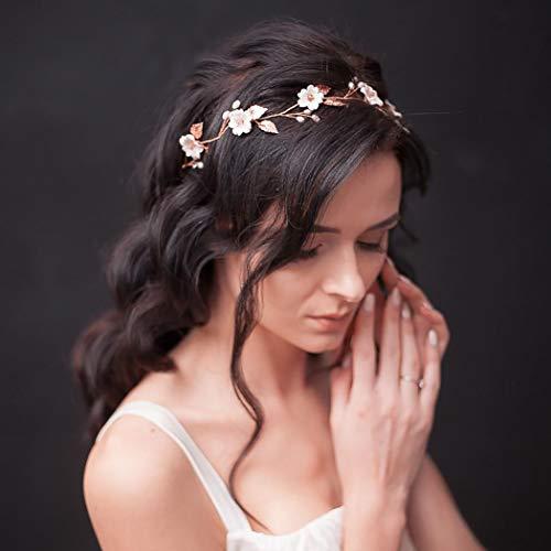 Lunghezza 50cm GRANDE Sposa Matrimonio Fascia Per Capelli Cristallo Perla Ghirlanda Fiore Fascia Per Capelli