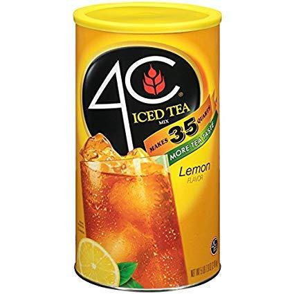 4C Iced Tea Mix, Natural Lemon Flavor, 5lbs 2.6 oz