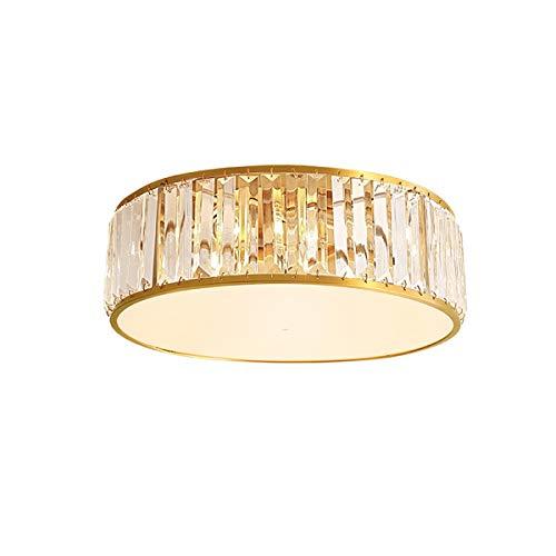 Luz de techo moderna simple Habitación Salón de iluminación cristalina de cobre llevó la lámpara del techo de la personalidad creativa lámparas de lujo de cobre de la lámpara (Size : Medium)