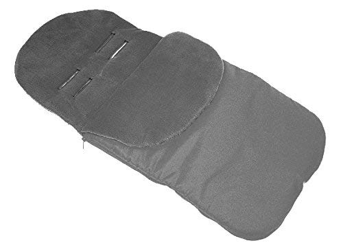 Universal FOOTMUFF Baby Cosy Toes Fit All Pushchair Buggy Car Seat Plain Colour_Grey