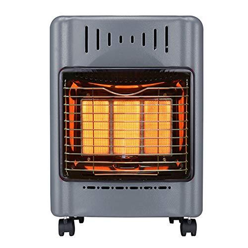 XFXDBT Interior Al Aire Libre Calefactor De Terraza Gas,Calefactor Infrarrojos Cerámica Calefacción con Ruedas,Hogar Radiador...