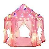Fließendes Pink Play Castle Riesige Kinder Spielzelt Princess Castle Spielzelte, großes Spielhaus...