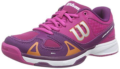 Wilson Rush Pro Jr, Zapatillas de tenis, Unisex infantil, Morado / Rosa, 37 EU