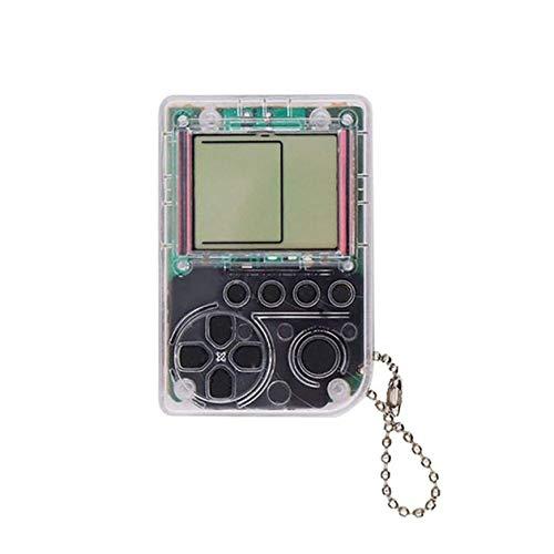 Mini Console Macchina da Gioco Mini Console da Gioco nostalgica Portatile per Bambini con Portachiavi Videogioco Regali per Bambini - Bianco