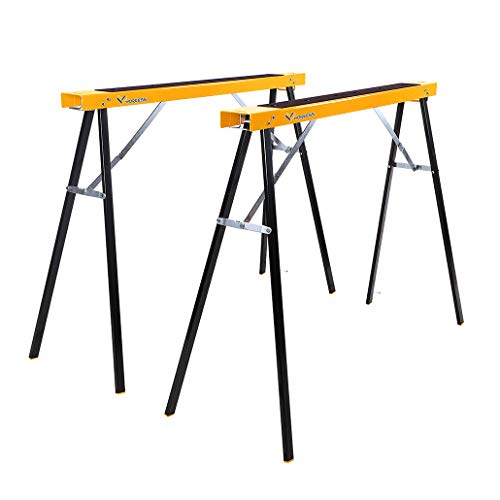 Portable Folding Sawhorse, Heavy Duty Twin Pack, 275 lb Weight...