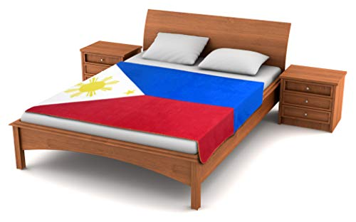 Fuzzy FlagsTM Philippines Flag Fleece Blanket - 80-inches x 50-inches - Oversized Travel Throw Cover