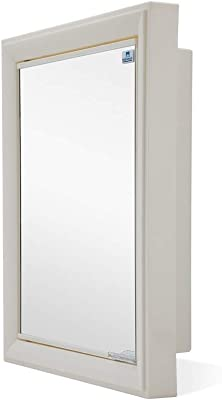 Nilkamal Gem Cabinet Mirror Plastic Wall Mount Cabinet(Ivory)