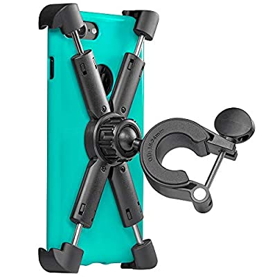 Motorcycle, Bicycle, Scooter Phone Mount - Reliable Handlebar Phone Holder for Any Smartphone (iPhone 11, Galaxy S20) - Makes Your Bike Rides Safer