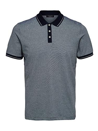 SELECTED HOMME Male Poloshirt Regular Fit MSky Captain