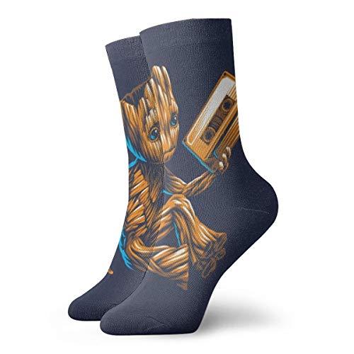 Baby Groot Music Antílope de dibujos animados Avatar para hombres y mujeres con pies sensibles, calcetines y calcetines deportivos de algodón