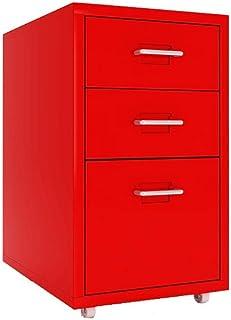 AOLI Armoires de classement Armoire à lettres, classeur, armoire de bureau mobile à 3 tiroirs, armoire de rangement commer...