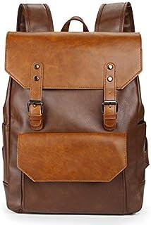 Dengyujiaasj Backpack, Elementary Prominent Capacity Leather Backpack For Travel Office Men Backpack Fashion School Bag Bl...