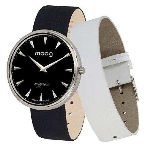 Moog Paris Mignon Reloj para Mujer con Esfera Negra, Correa...