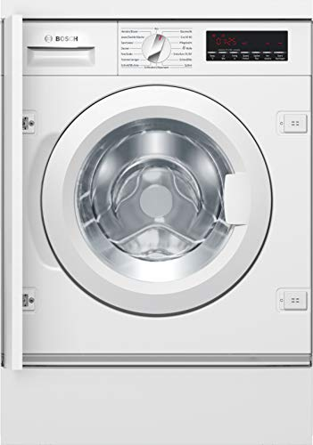 Bosch WIW28442 Serie 8 Einbau-Waschmaschine Frontlader / A+++ / 176 kWh/Jahr / 1400 UpM / 8 kg / Weiß / VarioTrommel / ActiveWater™ Mengenautomatik