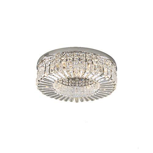 Moderno LED Lámparas De Araña,Montaje Semi-lavado G9 Cristal Plafón Acero Inoxidable Cristal...