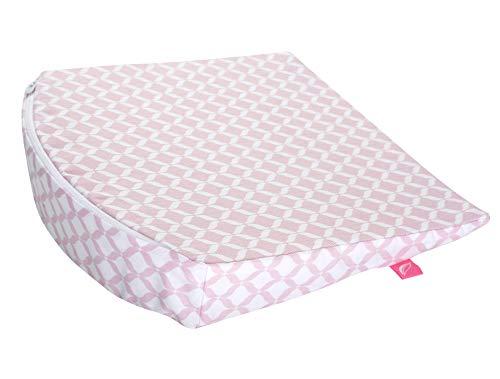 Baby Keilkissen 30x30cm ideal für Kinderwagen, Stubenwagen, Öko-Tex Standard 100. Inkl. abnehmbarem Bezug aus 100% Baumwolle, rosa classiscs