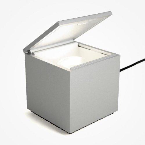 Preisvergleich Produktbild Cuboled LED Nachttischleuchte,  silber LxBxH 10x10x11cm 1x LED 2W 2700K CRI90