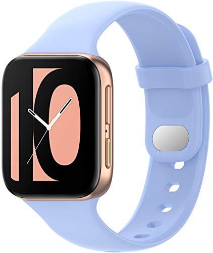 Shieranlee Silicone Correa Pulsera Compatible con OPPO Watch 41mm,Brazalete de Silicona sin Fitness Tracker