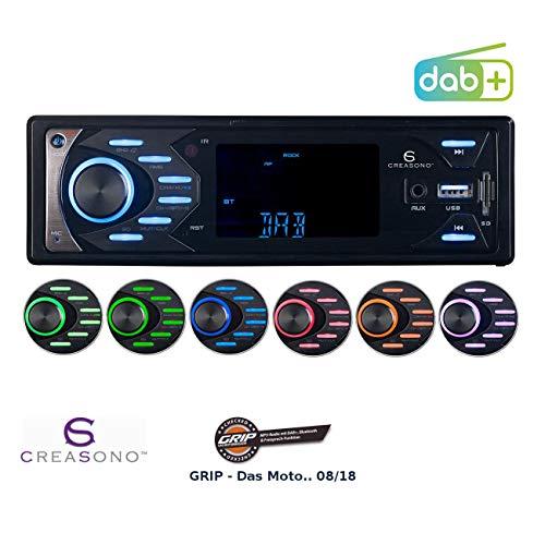 Creasono Kfz Radio: MP3-Autoradio mit DAB+, Bluetooth & Freisprech-Funktion, 4X 45 Watt (DAB Radio Auto)
